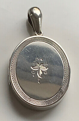 Fabulous Antique Victorian Large Solid Silver Locket With Instant Relatives