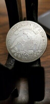 1819 small 9 5/5 Capped Bust Quarter 25c 25 Cents  5/5 Fraction look!