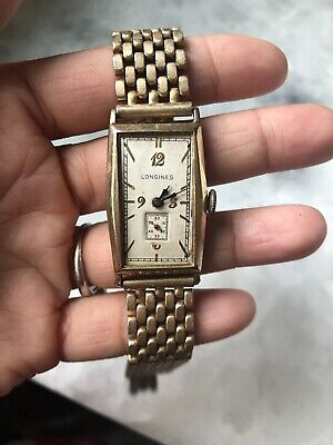 Mens Longines Curvex Gold Filled Watch Band 17 Jewels Movement #5483075 Not Run