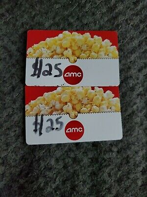 $25 amc theaters physical gift card FAST SHIP card has not been used.