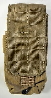 Used Eagle Industries USMC Double Rifle Magazine Pouch 1x2 Coyote LOOK!!