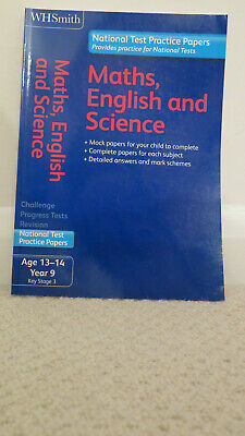 W H Smith National Test Practice Papers Maths, English and Science Key Stage 3