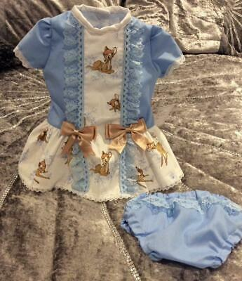 Romany Spanish Baby Girls' Frilly Bambi Dress & Knickers Set 3-6 Gift