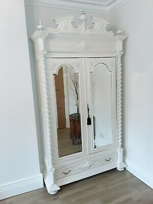 Exquisite painted French Armoire / Linen Cupboard