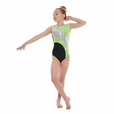 Girls Gymnastic Leotard - Tappers & Pointers GYM37 Apple Size 2 (approx 9-10yrs)