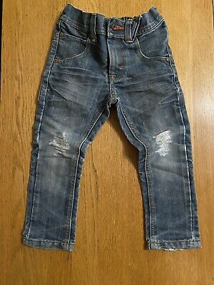 Next Boys Jeans 3 Years Straight Leg Ripped