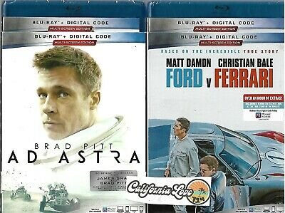 Ford V Ferrari + Ad Astra Blu-Ray 2-Movie 2-Disc Combo Set ✔☆Mint☆✔ No Digital
