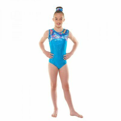 Girls Gymnastic Leotard - Tappers & Pointers GYM48 Turquoise Size 2(approx 9-10)