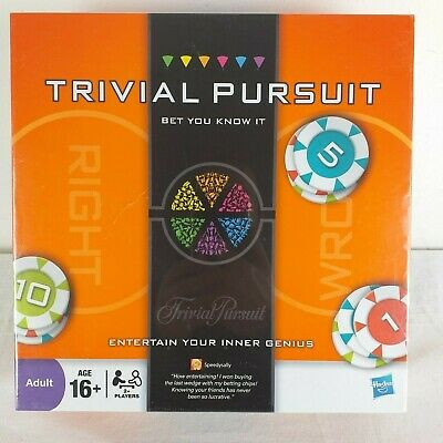 Trivial Pursuit Bet You Know It Edition Family Board Game By Hasbro Complete New