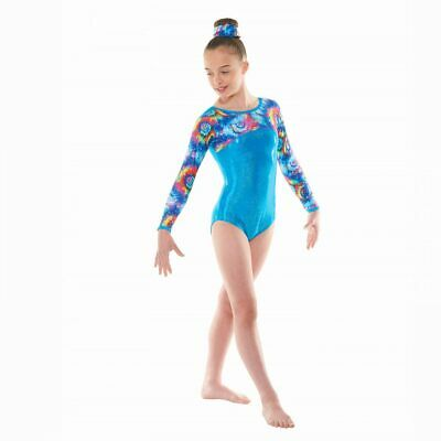 Girls Gymnastic Leotard-Tappers & Pointers GYM49 Turquoise Size 3a(approx 11-12)