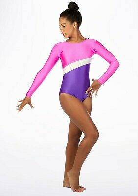Girls Gymnastic Leotard - Tappers & Pointers GYM2 Lipstick Size 2(approx 9-10yr)