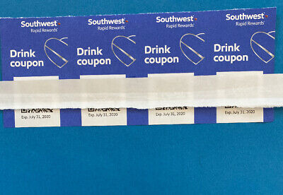 (x8)Southwest Airlines Coupons Drink Voucher Fast Shipping