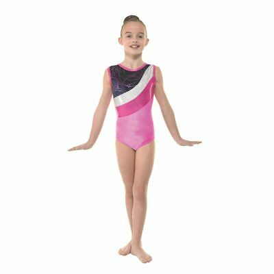 Girls Gymnastic Leotard - Tappers & Pointers GYM30 Pink Size 2 (approx 9-10yrs)