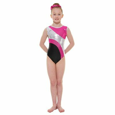 Girls Gymnastic Leotard - Tappers & Pointers GYM41 Pink Size 2 (approx 9-10yrs)