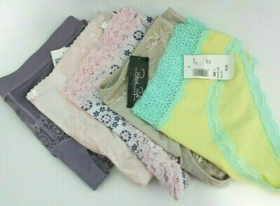 New Lot of 5 Woman's Panties Size Large Variety Lingerie Sophie b. Rene Rofe