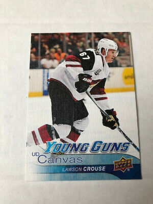 2016-17 UD Series 1 Hockey Canvas Young Guns Lawson          Crouse #C113