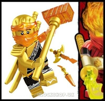NINJAGO RARE - LEGENDARY GOLD CRYSTAL COLE HANDS OF TIME fits lego figure (L5)