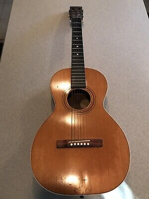 Rare Antique 1897 Washburn Model 211 Brazilian Rosewood Parlor Guitar X Braced