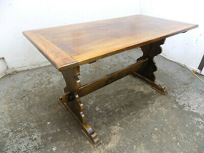 vintage,1930's,oak,small,refectory,dining table,pedestal base,table,kitchen