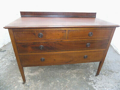 antique,edwardian,mahogany,2 over 2,large,chest of drawers,sideboard,drawers,