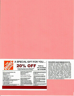 (1) 20% OFF HOME DEPOT Competitors Coupon at Lowe's exp 7/31/20