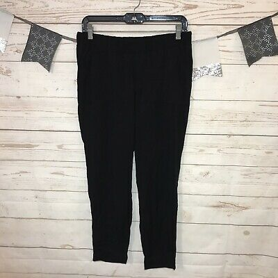 Old Navy Womens Black Pull On Joggers Pants Stretch Waist With Pockets Size M