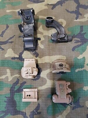 Parts Lot Of NVG mounts Rhino J Arm Surfire Light Mounts Bracket Helmet ACH ECH