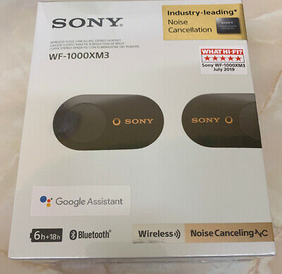 Sony WF-1000XM3 Noise Cancelling True Wireless Headphones - Black