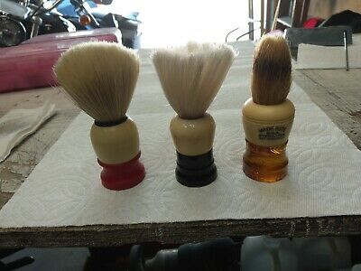 3 Vintage Shaving Brushes Ever-Ready, Made Rite, & Ever-Ready?