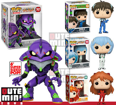 Funko Pop Animation Evangelion Shinji Asuka Rei Eva-01 Unit 01 Set Of 4 Figures