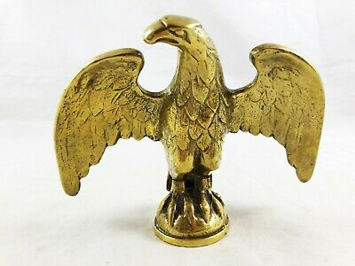 Vintage Heavy Brass American Eagle Flag Pole Topper