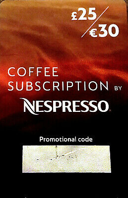 NESPRESSO COFFEE SUBSCRIPTION GiftCard- £25