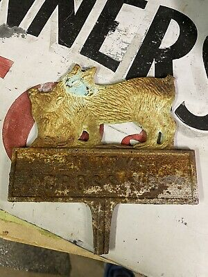 Vintage Cat Kitty Crossing Sign Cast Bronze Cat Yard Sign Mother With Kitten