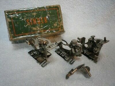 VINTAGE SINGER SEWING MACHINE ATTACHMENTS 160629 161166 43210 zipper ruffler