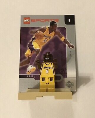 2002 Kobe Bryant Lego Minifigure with Stand and Card RARE