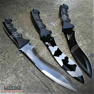 """13.5"""" Tactical Fixed Blade Kukri Survival Hunting Army Camo Knife w/ Sheath"""
