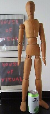 "Nonbinary, Male, Female Artist Mannequin Wood Form Articulating 31.5"" Vtg Model"