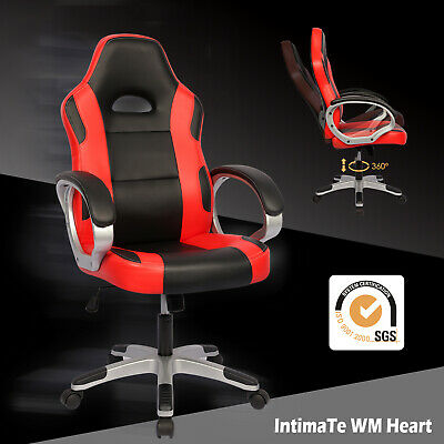 Racing Gaming Office Chair Computer Desk Chair Executive Swivel Sport PU Leather
