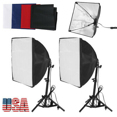 3x45W Softbox Light Stand Photo Studio Photography Continuous Lighting Kit US WY