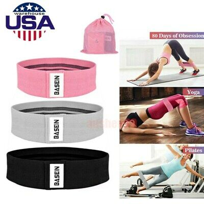 3x Resistance Fitness Booty Bands Exercise Yoga Loop Band Workout Power Trainer