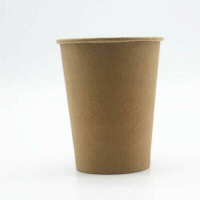 8oz 12oz 16oz Biodegradable Bamboo Disposable Coffee Cups Takeaway Paper Bulk