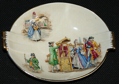 ROYAL WINTON ancienne faïence coupelle à friandises ca. 1950 Crackleware