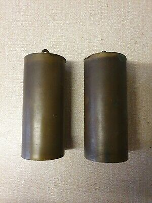 Fine Pair brass cased longcase clock weights Spares/Parts