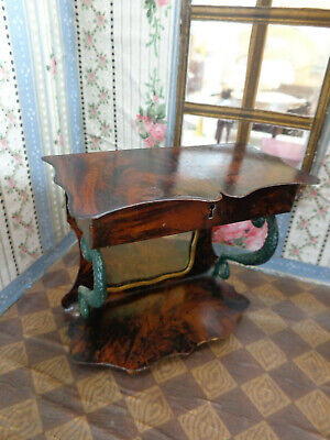 Antique dollhouse furniture tin toy Rock & Graner dated 1890 for mignonette doll