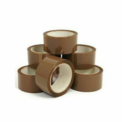 LONG LENGTH PACKING TAPE STRONG - BROWN - 72 Rolls - Not Used - Unopened