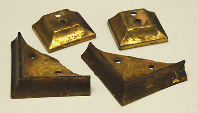 4 Rare Vintage / Antique Brass SESSIONS Mantel Mantle Clock Feet (85)