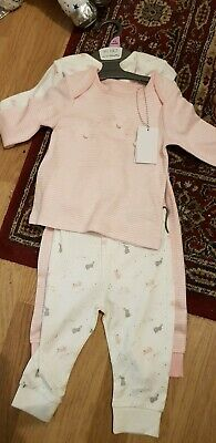 Mothercare 2 Pack Of Pjs Pyjamas 2 Sets Age 0-3 Months New