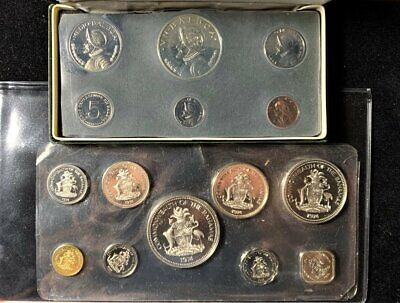 1974 Panama Proof Set - Silver & Clad and 1974 Bahamas 9 Coin Proof Set