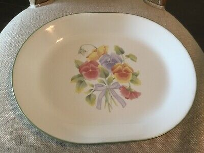 Corelle by Corning SUMMER BLUSH Pansy Oval Serving Platter  12 1/4""