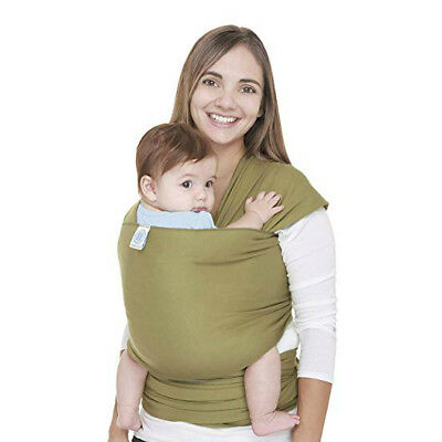 Moby Wrap Original 100% Cotton Olive Green Baby Carrier Babywearing Wearing